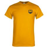 Gold T Shirt-UNC Bear Logo