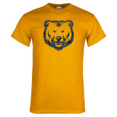 Gold T Shirt-Bear Mascot Distressed