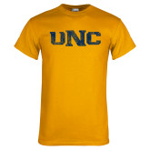 Gold T Shirt-UNC Distressed