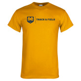 Gold T Shirt-Track & Field
