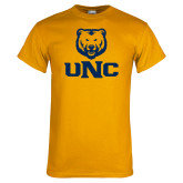 Gold T Shirt-UNC Bear Stacked