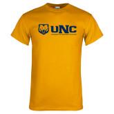 Gold T Shirt-UNC University of Northern Colorado