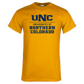 Gold T Shirt-UNC Collegiate Stacked