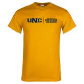 Gold T Shirt-UNC Collegiate Horizontal