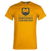 Gold T Shirt-University of Northern Colorado Academic Stacked