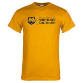 Gold T Shirt-University of Northern Colorado Academic Horizontal