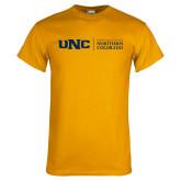 Gold T Shirt-UNC Academic Block Horizontal