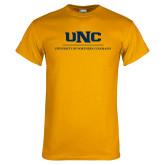 Gold T Shirt-UNC Academic Block Verticle