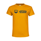 Youth Gold T Shirt-University of Northern Colorado Horizontal