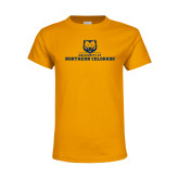 Youth Gold T Shirt-University of Northern Colorado Long Logo