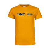 Youth Gold T Shirt-UNC Collegiate Horizontal