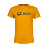 Youth Gold T Shirt-University of Northern Colorado Academic Horizontal