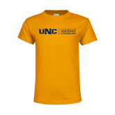 Youth Gold T Shirt-UNC Academic Block Horizontal