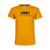 Youth Gold T Shirt-UNC Academic Block Verticle