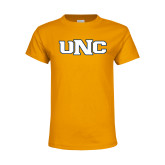 Youth Gold T Shirt-UNC Stroked Logo