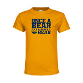 Youth Gold T Shirt-Once a Bear Always a Bear