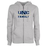 ENZA Ladies Grey Fleece Full Zip Hoodie-Family