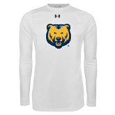 Under Armour White Long Sleeve Tech Tee-UNC Bear Logo