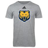 Adidas Sport Grey Logo T Shirt-UNC Bear Logo