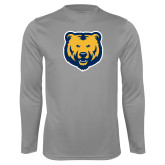 Performance Steel Longsleeve Shirt-UNC Bear Logo