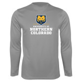Performance Steel Longsleeve Shirt-Northern Colorado Stacked Logo