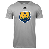 Adidas Climalite Sport Grey Ultimate Performance Tee-UNC Bear Logo