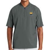 New Era Charcoal Cage Short Sleeve 1/4 Zip-UNC Bear Logo