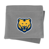 Grey Sweatshirt Blanket-UNC Bear Logo