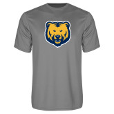 Performance Grey Concrete Tee-UNC Bear Logo