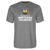 Performance Grey Concrete Tee-Northern Colorado Stacked Logo
