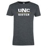 Ladies Dark Heather T Shirt-Sister