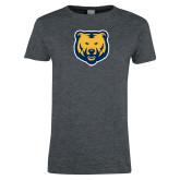 Ladies Dark Heather T Shirt-UNC Bear Logo