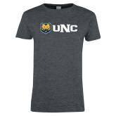 Ladies Dark Heather T Shirt-UNC Bears