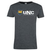 Ladies Dark Heather T Shirt-UNC University of Northern Colorado