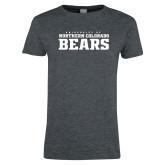 Ladies Dark Heather T Shirt-University of Northern Colorado Bears Collegiate