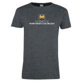 Ladies Dark Heather T Shirt-University of Northern Colorado Academic