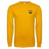 Gold Long Sleeve T Shirt-UNC Bear Logo