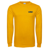 Gold Long Sleeve T Shirt-UNC