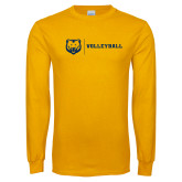 Gold Long Sleeve T Shirt-Volleyball