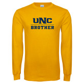 Gold Long Sleeve T Shirt-Brother