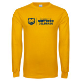 Gold Long Sleeve T Shirt-University of Northern Colorado Horizontal