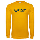 Gold Long Sleeve T Shirt-UNC University of Northern Colorado