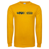 Gold Long Sleeve T Shirt-UNC Collegiate Horizontal