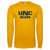 Gold Long Sleeve T Shirt-UNC Bears Collegiate