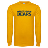 Gold Long Sleeve T Shirt-University of Northern Colorado Bears Collegiate