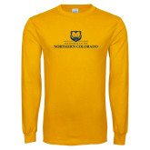 Gold Long Sleeve T Shirt-University of Northern Colorado Academic