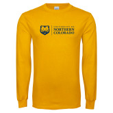 Gold Long Sleeve T Shirt-University of Northern Colorado Academic Horizontal