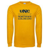 Gold Long Sleeve T Shirt-UNC Academic Block