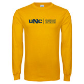 Gold Long Sleeve T Shirt-UNC Academic Block Horizontal