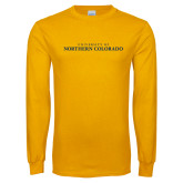 Gold Long Sleeve T Shirt-UNC Wordmark